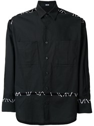 Ktz Pin Embroidery Shirt Black