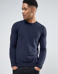Sisley Sweater In Cotton Navy