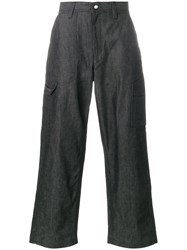 White Mountaineering Wide Leg Trousers Black