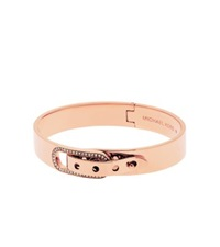 Michael Kors Pave Rose Gold Tone Buckle Bangle