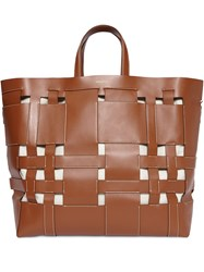 Burberry Large Foster Tote Bag Brown