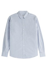 Closed Cotton Chambray Blouse Blue