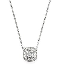 Bloomingdale's Diamond Cluster Bezel Pendant Necklace In 14K White Gold .30 Ct. T.W.