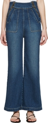Chloe Indigo High Waisted Flared Jeans