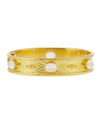 Elizabeth Locke Moonstone Cabochon Bangle Bracelet