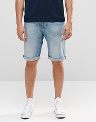 Lee Straight Denim Shorts Beach Blue Beach Blue