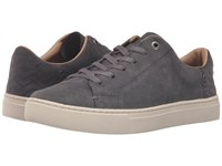 Toms Lenox Sneaker Grey Suede Women's Lace Up Casual Shoes Gray
