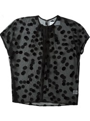 Gianluca Capannolo Sheer Polka Dot Blouse Black