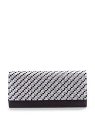 Sasha Embellished Satin Clutch Black