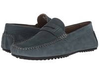 Hush Puppies Vastus Penny Vintage Indigo Nubuck Slip On Dress Shoes Blue