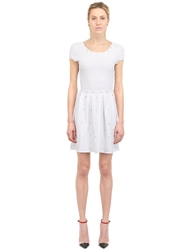 Vicedomini Viscose Blend Jacquard Dress White