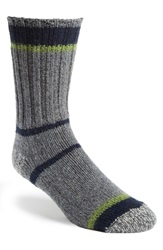 Woolrich Merino Wool Blend Stripe Socks Charcoal