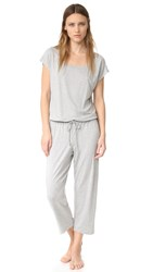 Eberjey Darby Cropped Jumpsuit Marble