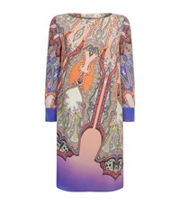 Etro Paisley Silk Tunic Dress Female Multi