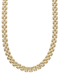 Giani Bernini 24K Gold Over Sterling Silver Linked Chain Necklace