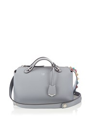 Fendi Stud Embellished Leather Cross Body Bag Light Blue