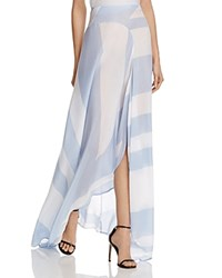 Mlm Label Diagonal Stripe Maxi Skirt Blue Delmare Stripe