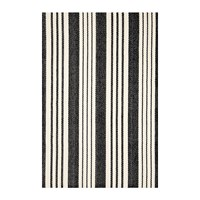 Dash And Albert Birmingham Woven Rug Black Black And White