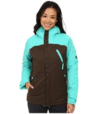 686 Authentic Festival Insulated Jacket Coffee Diamond Dobby Women's Coat Brown
