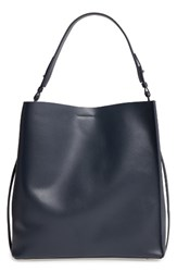 Allsaints 'Paradise North South' Calfskin Leather Tote Blue Marine Blue