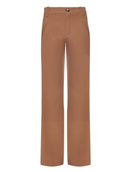 Chloe Mid Rise Wide Leg Wool Trousers
