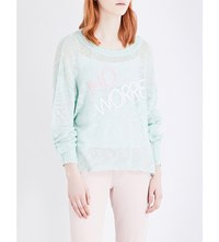 Wildfox Couture No Worries Knitted Jumper Iced Mint