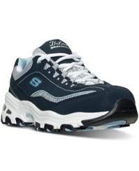 Skechers Women's D'lites Life Saver Wide Width Running Sneakers From Finish Line Navy White Blue