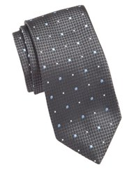 Vince Camuto Textured Dot Silk Tie Grey