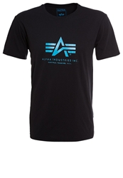 Alpha Industries Basic Print Tshirt Black Blue