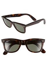 Men's Ray Ban 'Classic Wayfarer' 50Mm Polarized Sunglasses Tortoise Green P