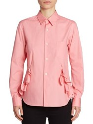 Comme Comme Ruffle Button Front Shirt Pink