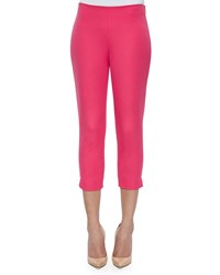 Elie Tahari Juliette Slim Cropped Pants Redberry