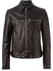 Diesel Black Gold Classic Collar Leather Jacket