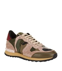 Valentino Camo Studded Trainer Female Multi