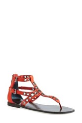 Halogen 'Cardiff' Ankle Strap Thong Sandal Women Red
