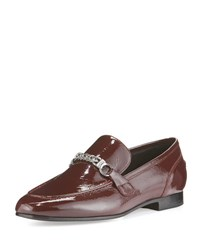 Rag And Bone Cooper Patent Leather Loafer Burgundy