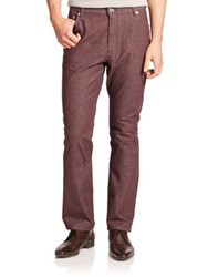 Brioni Roccaraso Straight Leg Cotton Jeans Dark Red