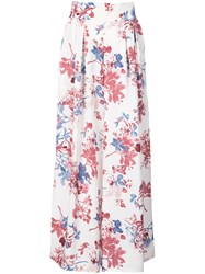 Misa Los Angeles Floral Print Palazzo Trousers White