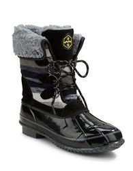 Khombu Jilly Faux Fur Lined Snow Boots Black