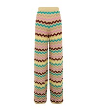 M Missoni Wide Leg Zig Zag Trousers Female Multi