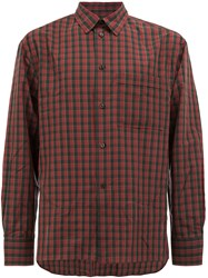 Lanvin Checked Button Shirt Red