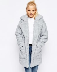 Noisy May Teddy Coat High Rise