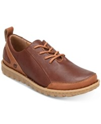 Born Piper Leather Oxfords Shoes Brown Rust