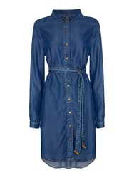 Biba Luxe Denim Shirt Dress Indigo