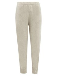 Allude Slim Leg Cashmere Track Pants Light Grey