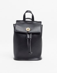 French Connection Faux Leather Mini Backpack Black