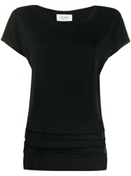Snobby Sheep Mesh Stripes Knitted Top Black