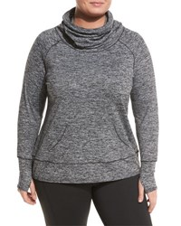 Marc Ny Performance Plus Active Fleece Tunic Black Pattern