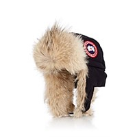 Canada Goose Fur Trimmed Down Filled Aviator Hat Navy