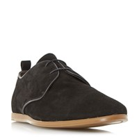 Bertie Bray Perforated Suede Gibson Shoes Black